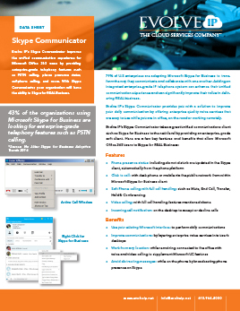 Skype Communicator Data Sheet