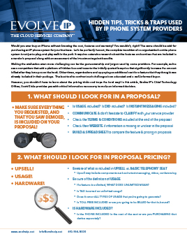 IP Phone System Providers - Evolve IP Shares Hidden Tricks Tips and Traps