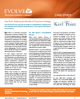 Keel Point Investment Advisory Case Study Cover